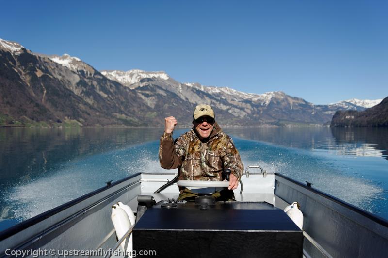 Lake fishing in Switzerland